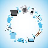 Laundry service. Design, vector illustration eps10 graphic Royalty Free Stock Images