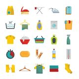 Laundry service icons set, flat style. Laundry service icons set. Flat illustration of 25 laundry service vector icons for web Royalty Free Stock Image