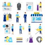Laundry Service Set Royalty Free Stock Photo