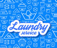 Laundry service vector illustration Royalty Free Stock Photos