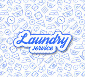 Laundry service vector illustration Royalty Free Stock Image