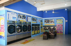 Laundry services in George Town, Malaysia stock photo