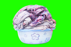 Laundry sheet in bowl isolated Stock Images