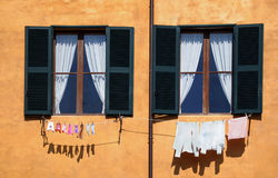 Laundry - small and large Royalty Free Stock Images