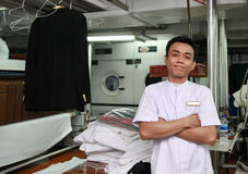 Laundry staff Stock Images