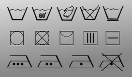 Laundry Symbols Royalty Free Stock Image