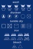 laundry symbols Stock Image