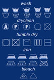 laundry symbols Royalty Free Stock Photography