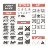Laundry symbols Royalty Free Stock Photo