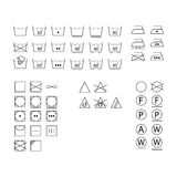 Laundry symbols. Icons for design Stock Images