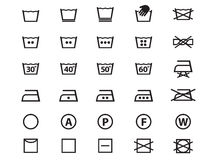 Laundry Symbols Royalty Free Stock Photos