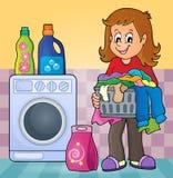 Laundry theme image 2 Royalty Free Stock Photography