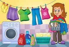 Laundry theme image 4 Royalty Free Stock Images