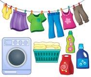 Laundry theme image 3 Stock Photography