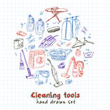 Laundry themed doodle set. Stock Image
