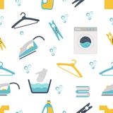 Laundry Themed Graphics Royalty Free Stock Photos
