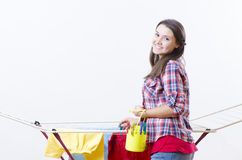 Laundry to dry Royalty Free Stock Photos