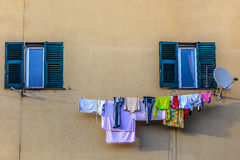 Laundry to dry Stock Images