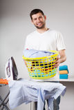 Laundry to ironing Royalty Free Stock Images