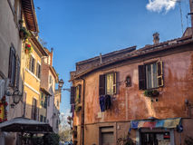 Laundry in Trastevere district of Rome, Italy Royalty Free Stock Photo