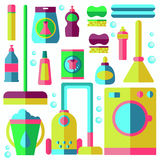 Laundry vector illustration Royalty Free Stock Photos