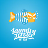 Laundry vector logo, label Royalty Free Stock Images