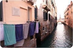 Laundry in Venice Royalty Free Stock Photos