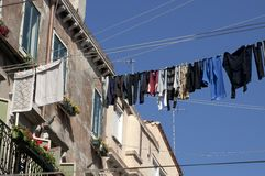 Laundry in Venice, Italy. Stock Images