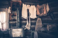 Laundry in Vintage House Royalty Free Stock Photos