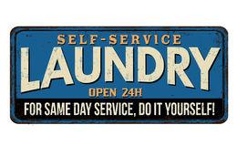 Laundry  vintage metal sign Royalty Free Stock Image