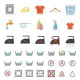 Laundry and washing icon Royalty Free Stock Photos