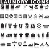 Laundry and washing icons. Royalty Free Stock Photos