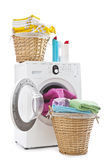 Laundry and washing machine Stock Photos