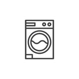 Laundry, washing machine line icon Stock Image
