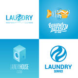 Laundry, washing service collection of vector logo, icon, symbol, emblem Stock Images