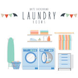 Laundry (White Background) Royalty Free Stock Photos