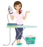 Laundry woman Stock Photo