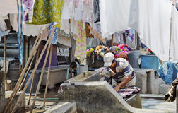 laundryman Dhobhi Ghat Mumbai Royalty Free Stock Images