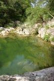Lauquet do rio em Corbieres, França fotos de stock royalty free