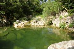 Lauquet do rio em Corbieres, França fotografia de stock royalty free