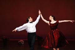 Laura Blica Toader and Vlad Toader performing Stock Image