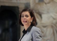 Laura boldrini,rome,italy. Laura Boldrini is a journalist , an official and Italian politics, from March 16, 2013 President of the Chamber of Deputies in the Royalty Free Stock Image