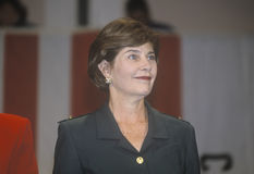 Laura Bush at campaign rally, Burbank, CA in 2000 Royalty Free Stock Images