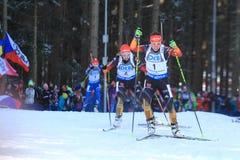 Laura Dahlmeier - biathlon Arkivbild