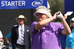 Laura Davies at the ANA inspiration golf tournament 2015. RANCHO MIRAGE, CALIFORNIA - APRIL 01, 2015 : Laura Davies of england at the ANA inspiration golf stock photos