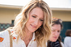 Laura Dern signing autographs on the Promenade des Planches during the 43rd Deauville American Film festival, on August 2, 2017 Stock Photography
