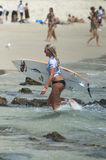 Laura Enever - Roxy Pro 2011 royalty free stock images