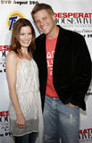 Laura Leighton and Doug Savant. At the Desperate Housewives: Extra Juicy Edition Season 2 DVD Launch held at the Wisteria Lane Universal Studios in Hollywood Royalty Free Stock Photos