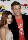 Laura Leighton and Doug Savant. At the Desperate Housewives: Extra Juicy Edition Season 2 DVD Launch held at the Wisteria Lane Universal Studios in Hollywood Royalty Free Stock Photo