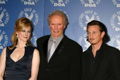 Laura Linney,Clint Eastwood,Sean Penn Royalty Free Stock Photo